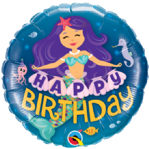 "Mermaid Happy Birthday Foil Balloon (18"") 1pc"